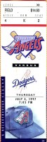 1997 Los Angeles Angels ticket stub vs Dodgers