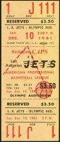 1961 APBL Los Angeles Jets ticket stub vs Washington