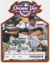 2010 Florida Marlins Opening Day ticket stub vs Los Angeles