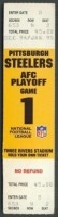 1995 AFC Divisional Game ticket stub Steelers Browns