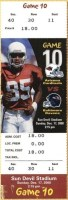 2000 Arizona Cardinals ticket stub vs Baltimore Pat Tillman