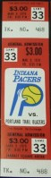 1979 Indiana Pacers ticket stub vs Portland