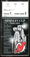 2001 Stanley Cup Playoffs ticket stub Hurricanes Devils