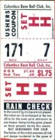1953 Columbus Redbirds ticket stub vs Minneapolis