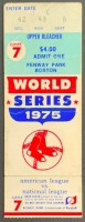 1975 World Series Game 7 ticket stub Boston Cincinnati