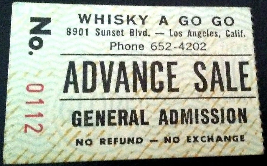 1980 Tom Petty and the Heartbreakers Ticket Stub Whisky A Go Go