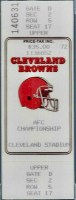 1987 AFC Championship Game ticket stub Broncos Browns