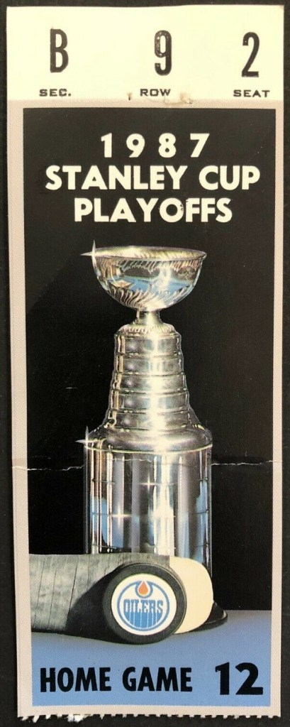 1987 Stanley Cup Final Game 7 ticket stub Flyers Oilers