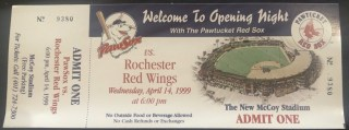 1999 Pawtucket Red Sox ticket stub vs Rochester