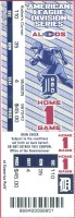 2006 ALDS Game 1 ticket stub Yankees Tigers