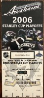 2006 NHL Playoffs Game 3 ticket stub Flames Ducks