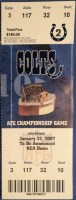 2007 AFC Championship Game ticket stub Patriots Colts