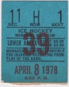 1978 IHL Ft Wayne Komets ticket stub