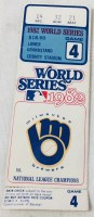 1982 World Series Game 4 ticket stub Cardinals Brewers