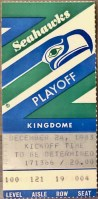 1983 AFC Wild Card Game Ticket Stub Denver Seattle