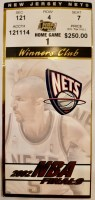 2002 NBA Finals Game 2 ticket stub Lakers Nets