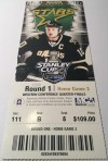 2008 Dallas Stars Playoffs ticket stub vs Anaheim