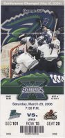 2008 ECHL Florida Everblades ticket stub vs Gladiators