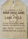 1930s San Diego Padres Knot Hole Gang ticket stub