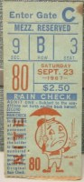 1967 Tom Seaver 16th Season Win ticket stub