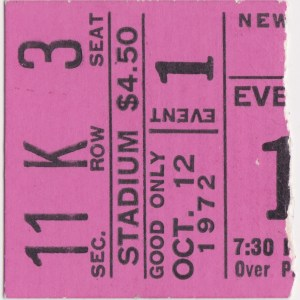 1972 New England Whalers ticket stub vs Philadelphia