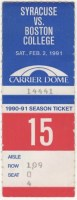 1991 NCAAF Syracuse ticket stub vs Boston College