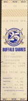1995 Buffalo Sabres ticket stub vs Pittsburgh