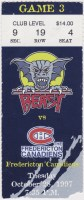 1997 Beast of New Haven ticket stub vs Fredericton