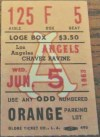 1963 Los Angeles Angels doubleheader ticket stub vs White Sox