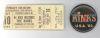 1983 The Kinks ticket stub Omaha