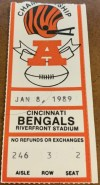 1988 AFC Championship Game ticket stub Bills Bengals