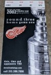 2002 Stanley Cup Playoffs Game 1 ticket stub Red Wings Avalanche