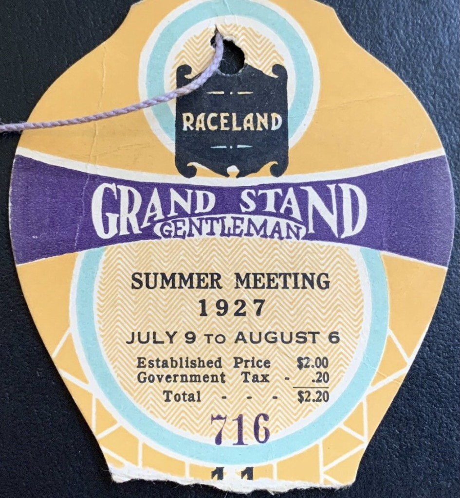 1927 Indianapolis Motor Speedway ticket stub