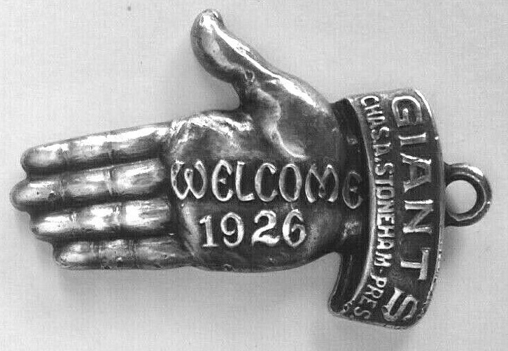 1926 New York Giants Sterling Silver Pass