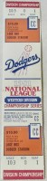 1981 NLDS Game 5 unused ticket Astros Dodgers