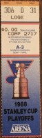 1988 St. Louis Blues Playoffs Game 5 ticket stub vs Chicago