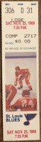 1989 St. Louis Blues ticket stub vs Flames Nov 25
