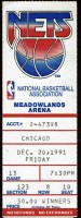 1991 New Jersey Nets ticket stub vs Chicago