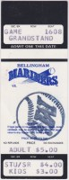 1992 Bellingham Mariners ticket stub vs Parent Mariners