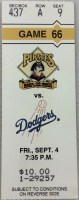 1992 Pittsburgh Pirates ticket stub vs Los Angeles