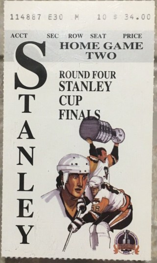 1992 Stanley Cup Final Game 2 ticket stub Penguins 30
