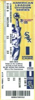 2005 ALDS Game 1 ticket stub White Sox Red Sox