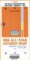 2005 NBA All Star Slam Dunk ticket stub
