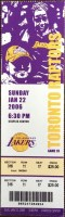 2006 Kobe Bryant 81 Point Game ticket stub