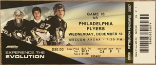 2006 Sidney Crosby First 6 Point Game Full ticket stub 14