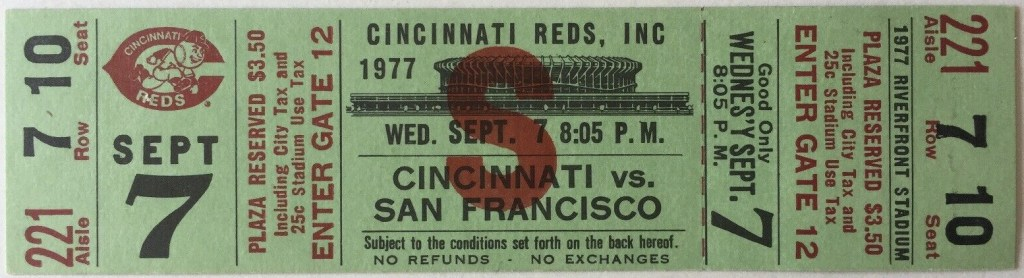 1977 Willie McCovey 2000th hit unused ticket
