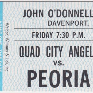 1988 Quad City Angels unused ticket vs Peoria Jul 29 NM-Mt. Unused condition. No visible flaws. 1988 Quad Cities Angels Roster Other Midwest League ticket stubs for sale