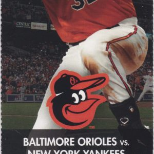 2013 Orioles Full Ticket vs Yankees May 20 Cano and Davis HRs