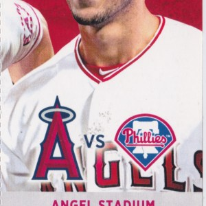 2017 Angels Full Ticket vs Phillies Aug 2 Mike Trout HR