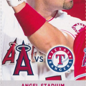 2017 Angels Full Ticket vs Rangers Sep 17 Trout Gallo HRs